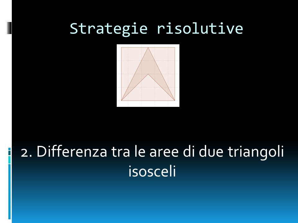 2. Differenza tra le aree di due triangoli isosceli
