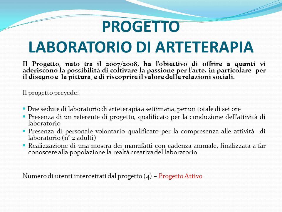 PROGETTO LABORATORIO DI ARTETERAPIA
