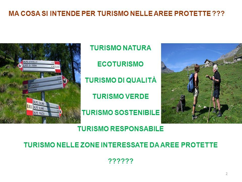TURISMO NELLE ZONE INTERESSATE DA AREE PROTETTE