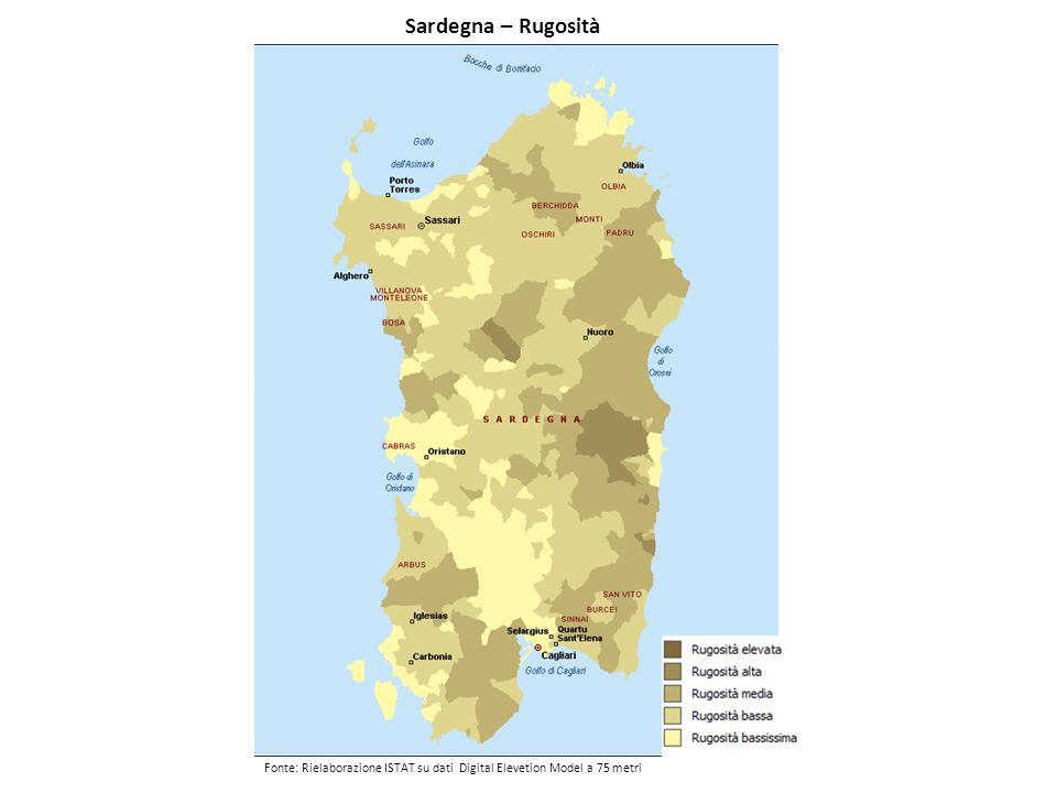 Sardegna – Rugosità
