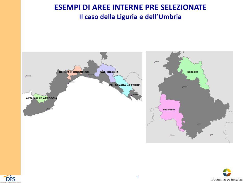 ESEMPI DI AREE INTERNE PRE SELEZIONATE