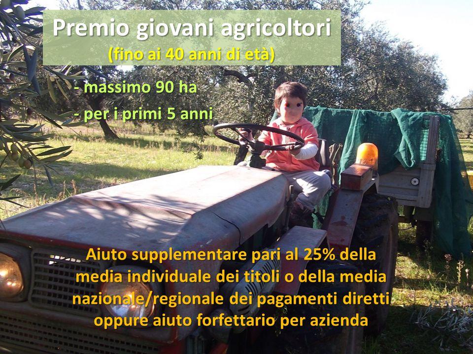 Premio giovani agricoltori (fino ai 40 anni di età)