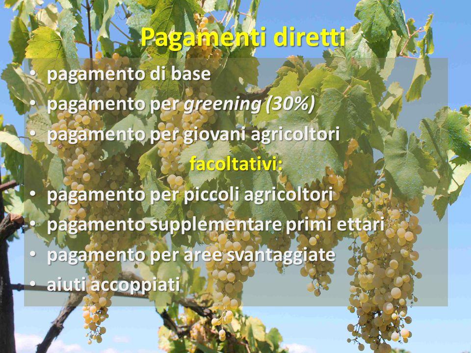 Pagamenti diretti pagamento di base pagamento per greening (30%)