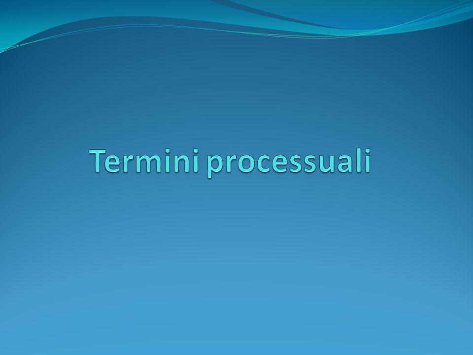 Termini processuali