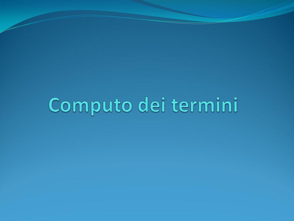Computo dei termini