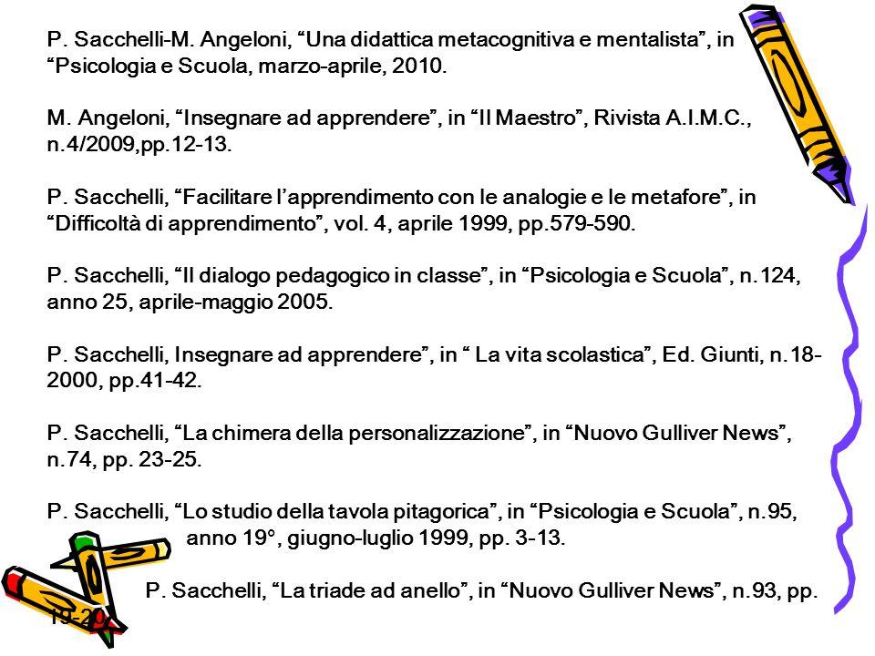 P. Sacchelli-M.