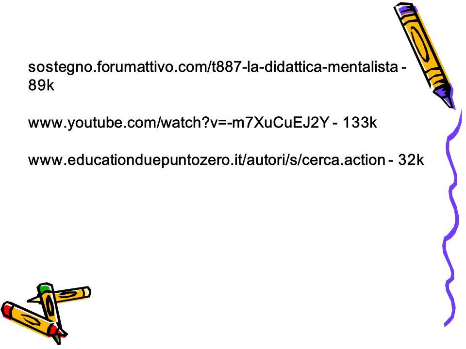 sostegno. forumattivo. com/t887-la-didattica-mentalista - 89k www