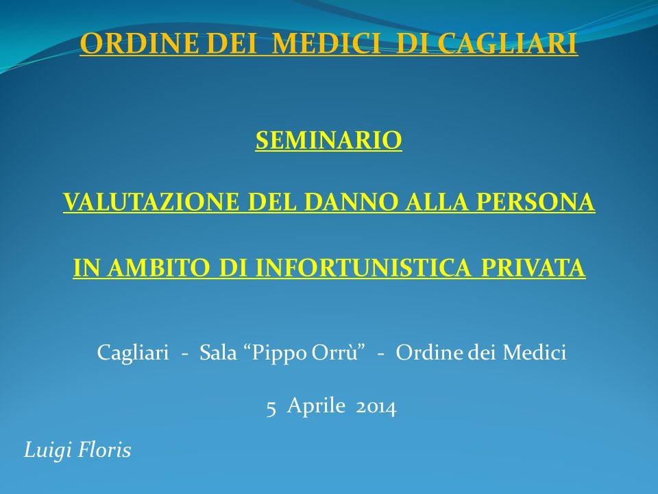 Cagliari - Sala Pippo Orrù - Ordine dei Medici