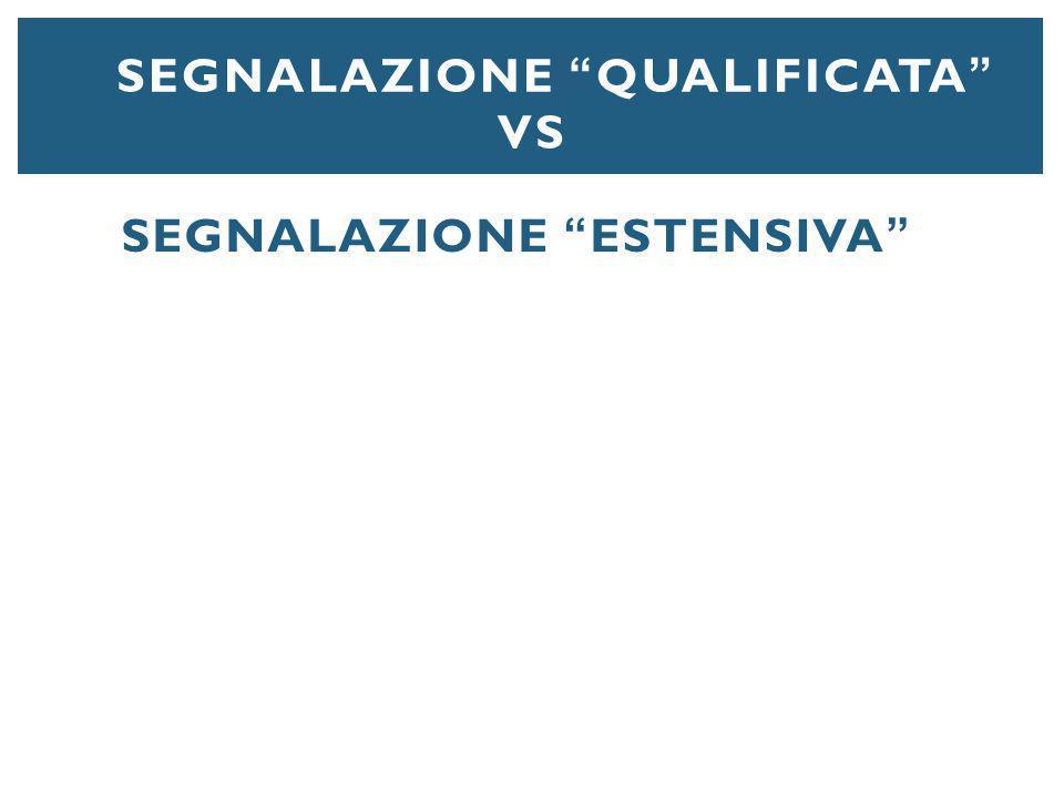 Segnalazione qualificata vs