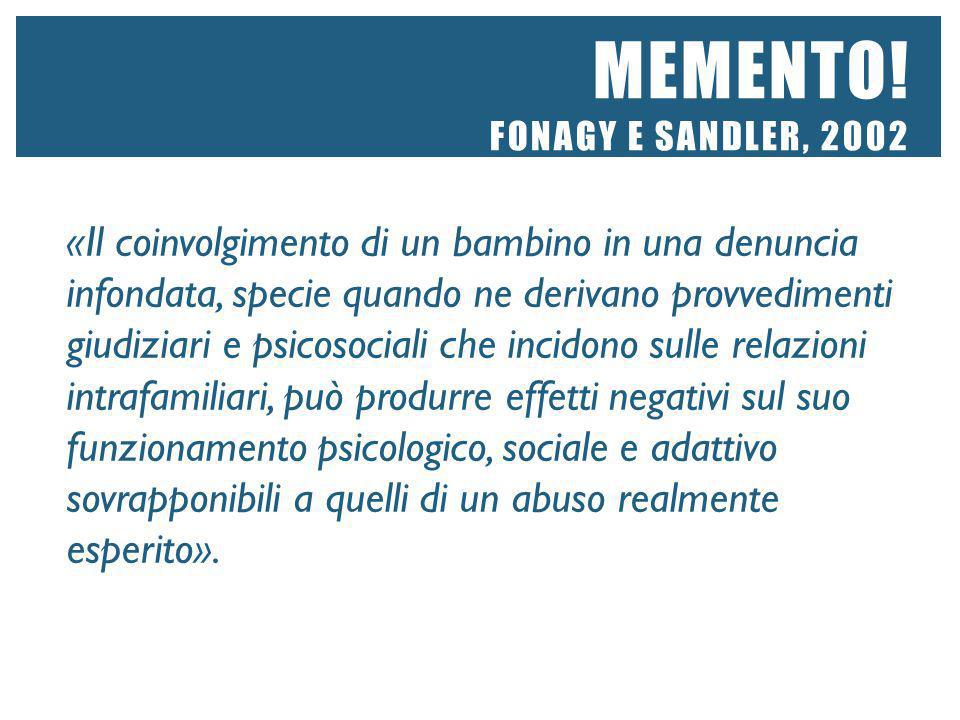 Memento! Fonagy e Sandler, 2002
