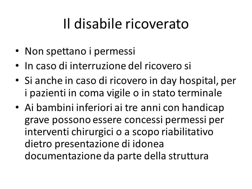 Il disabile ricoverato