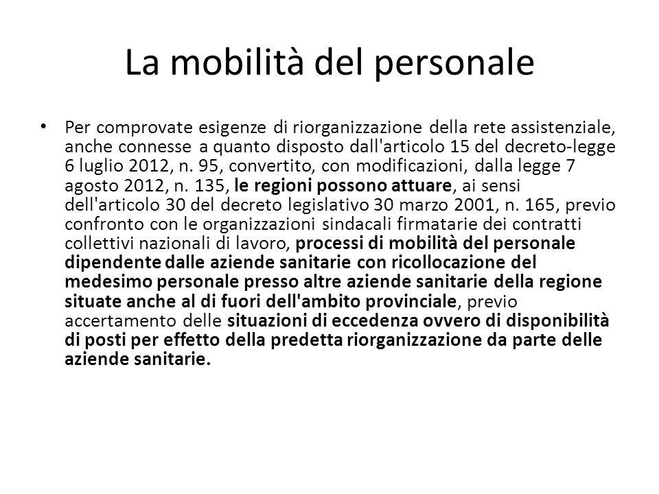 La mobilità del personale