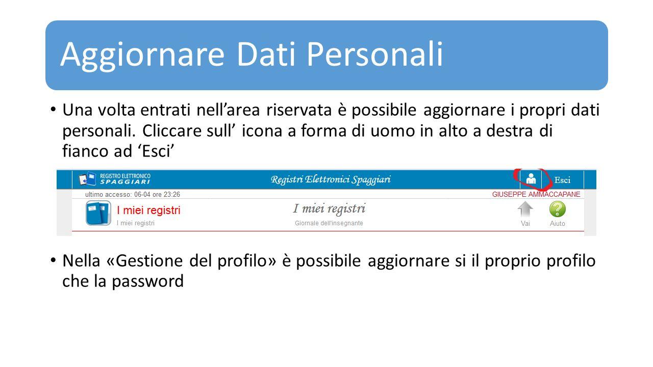 Aggiornare Dati Personali