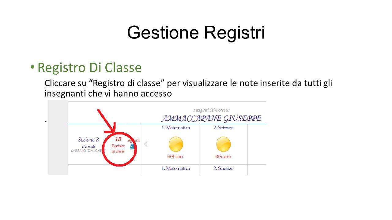 Gestione Registri Registro Di Classe