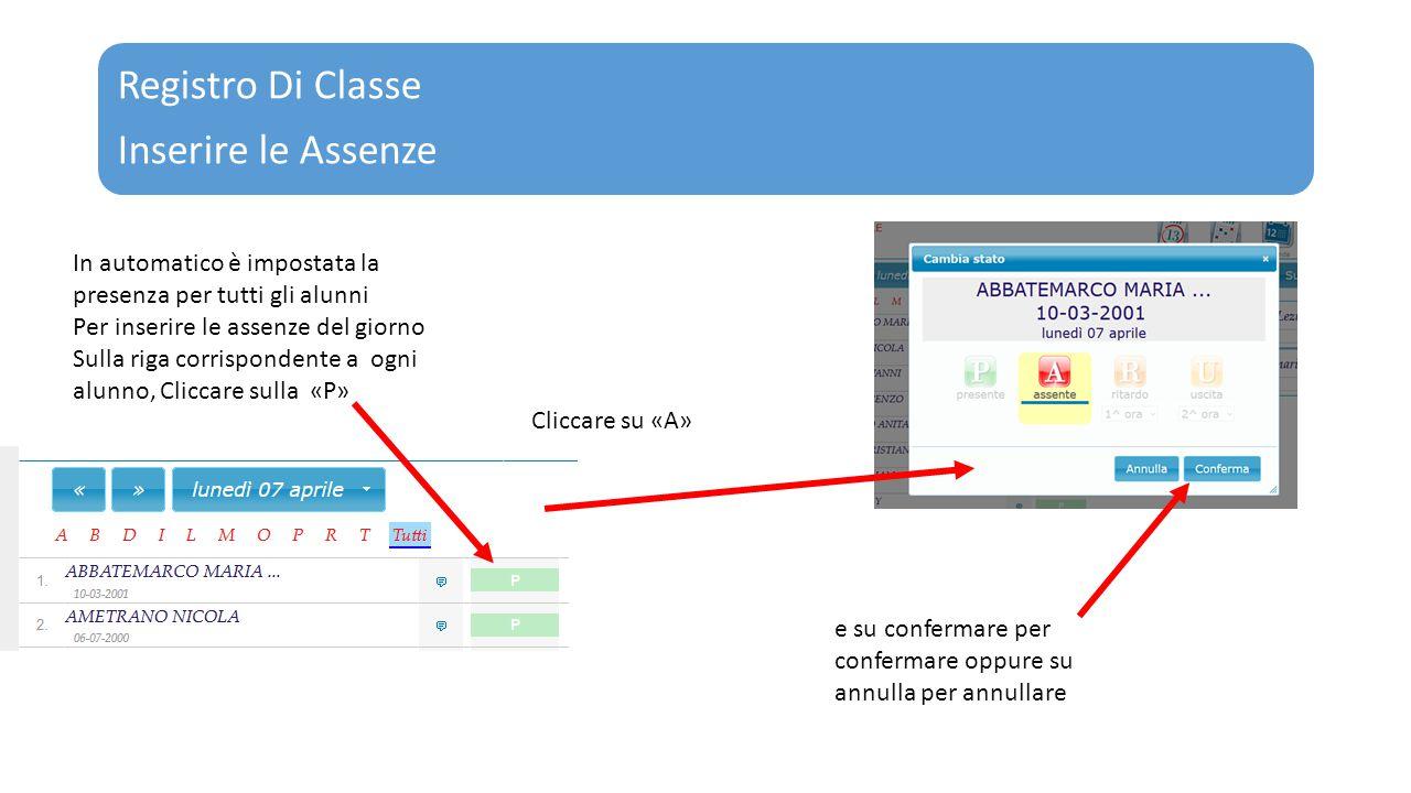 Registro Di Classe Inserire le Assenze