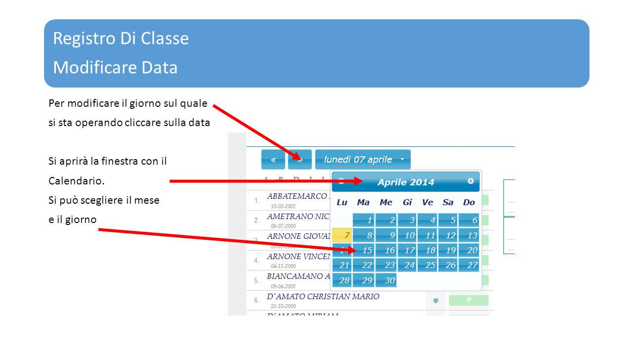 Registro Di Classe Modificare Data