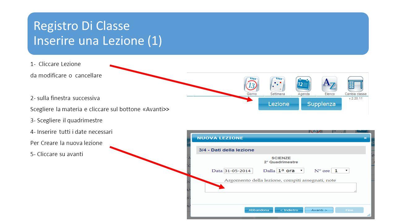 Registro Di Classe Inserire una Lezione (1)