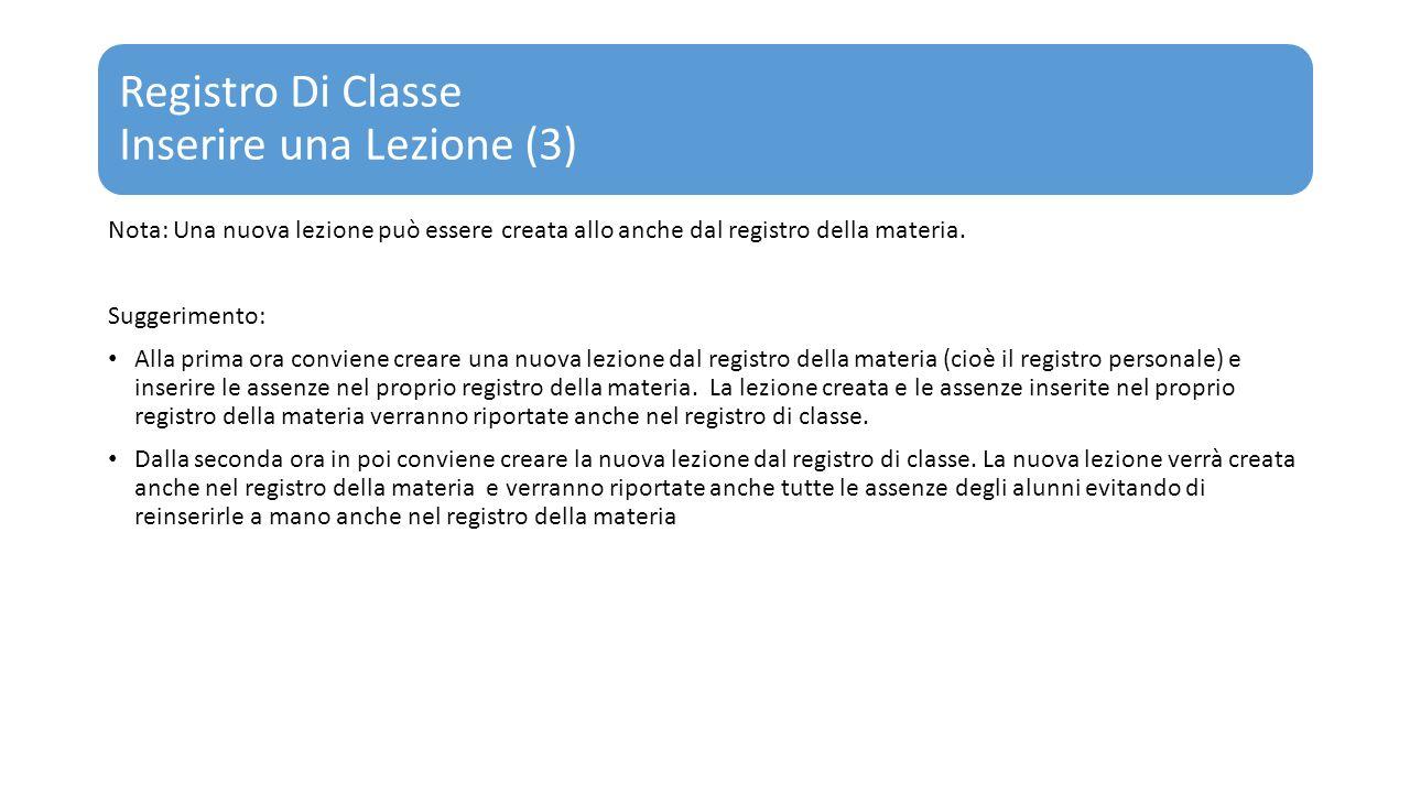Registro Di Classe Inserire una Lezione (3)