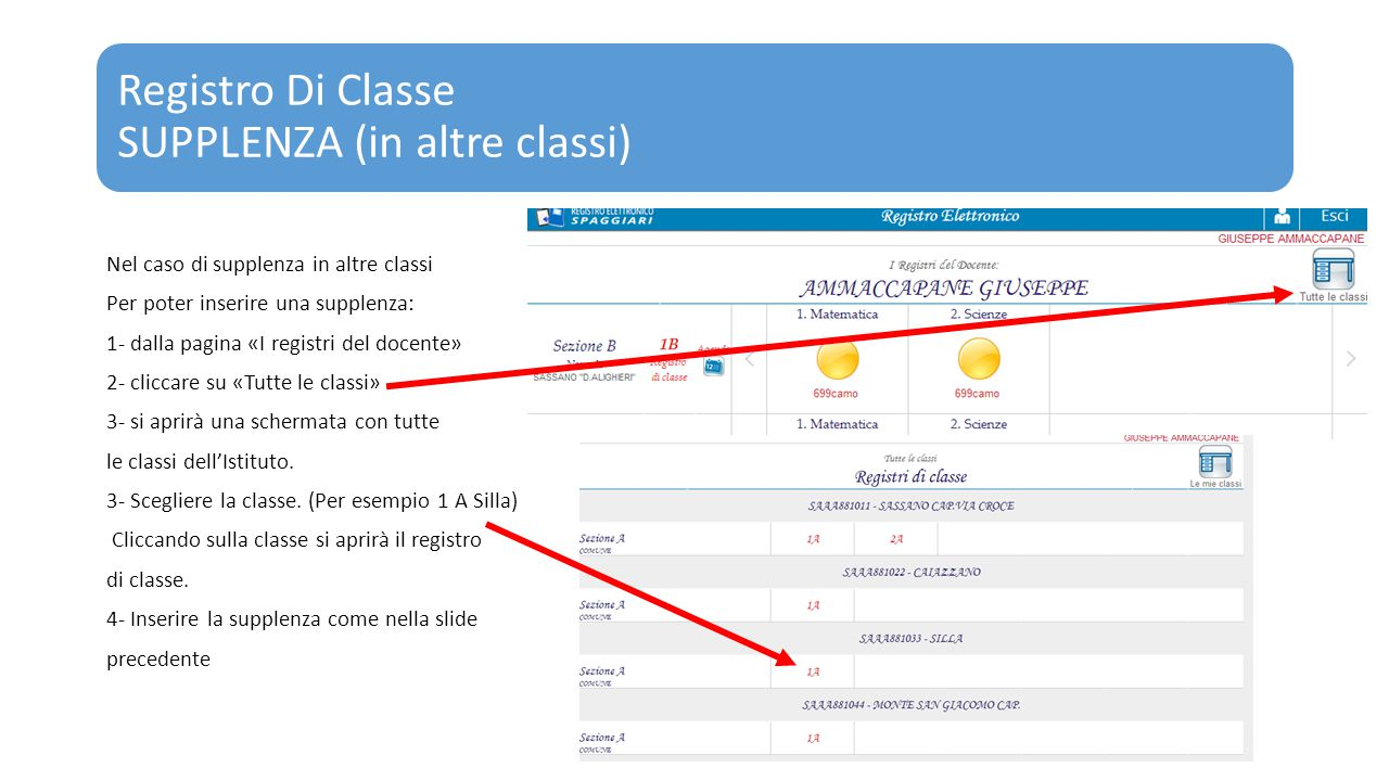 Registro Di Classe SUPPLENZA (in altre classi)