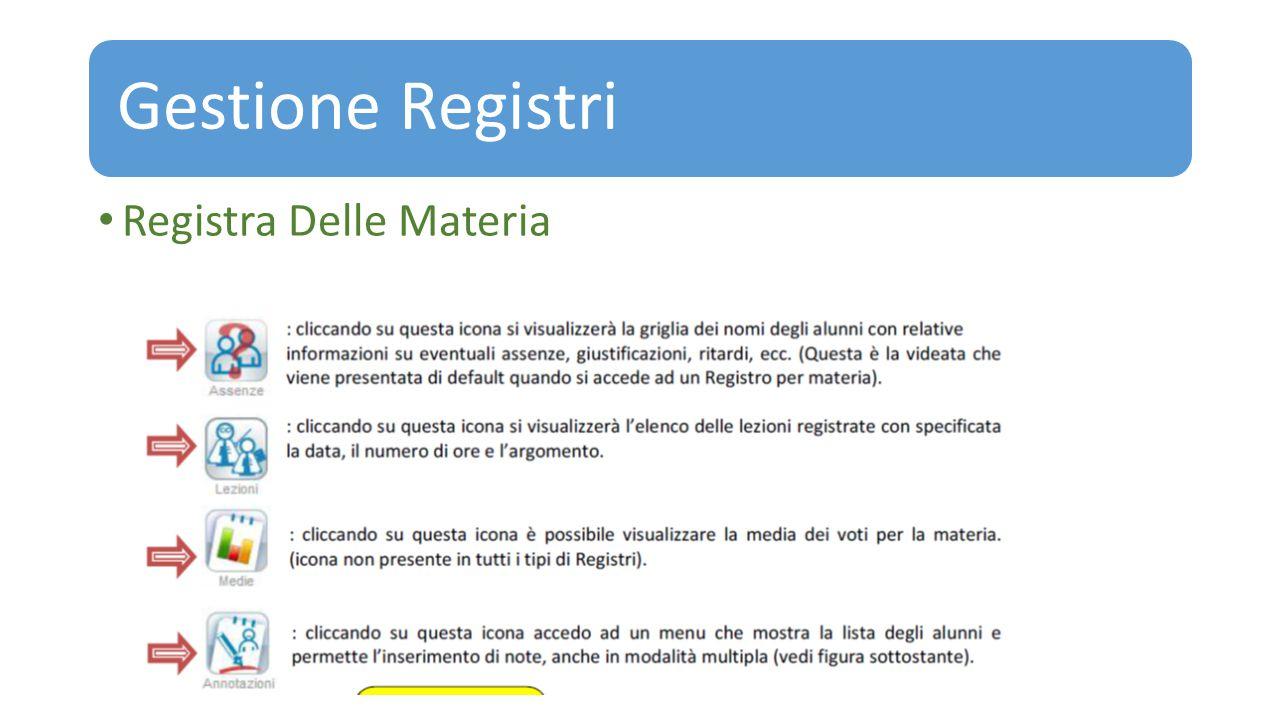 Gestione Registri Registra Delle Materia