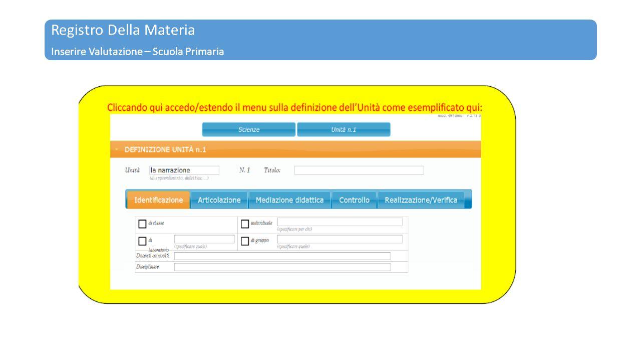 Registro Della Materia