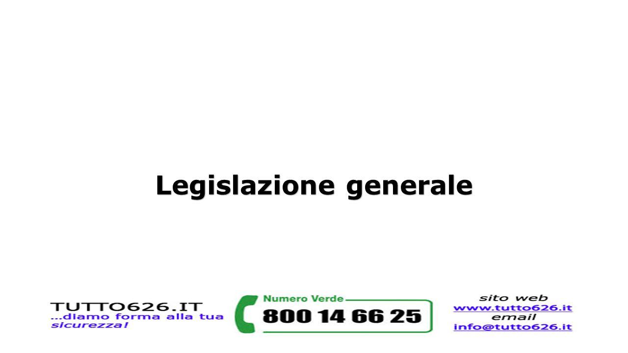 Legislazione generale