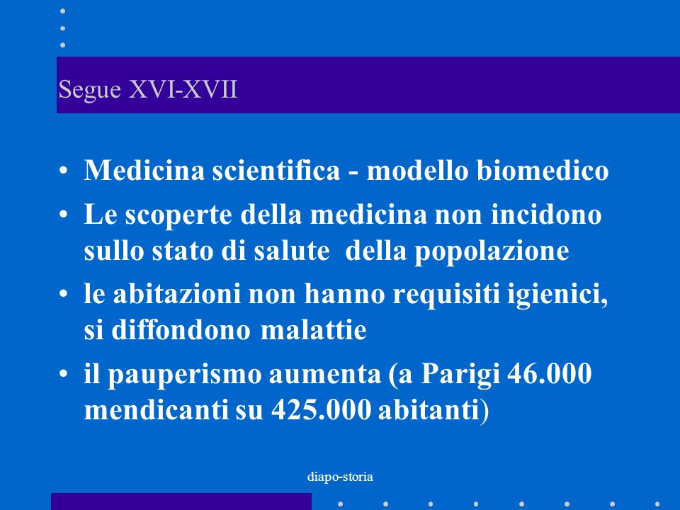 Medicina scientifica - modello biomedico