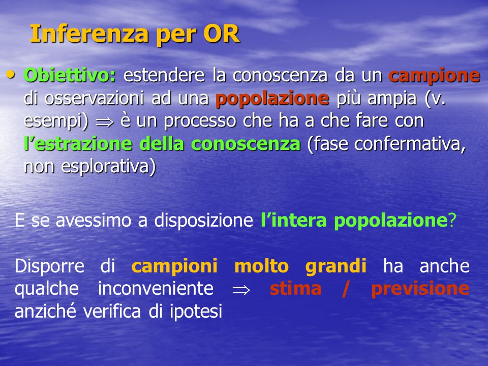 Inferenza per OR