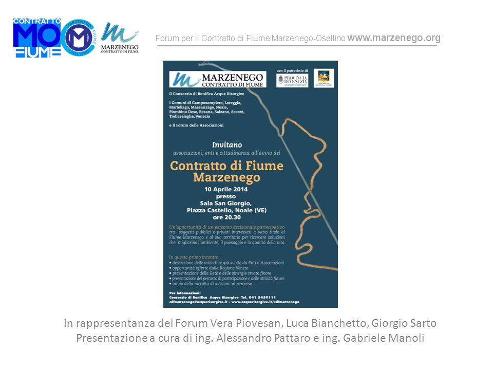 Presentazione a cura di ing. Alessandro Pattaro e ing. Gabriele Manoli