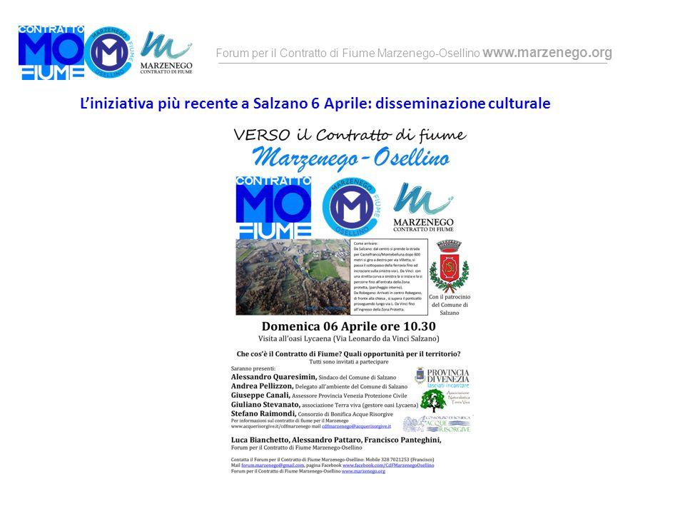 L'iniziativa più recente a Salzano 6 Aprile: disseminazione culturale