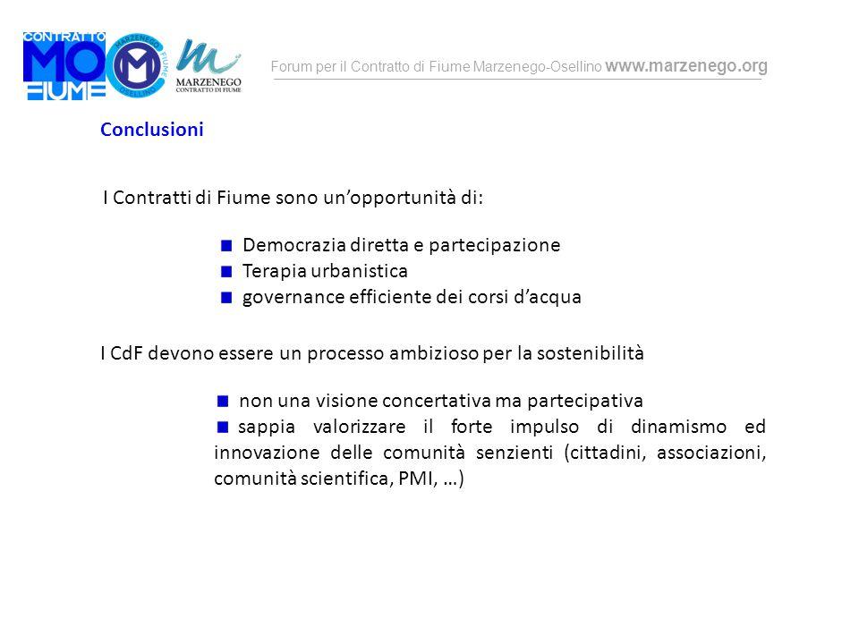 Conclusioni I Contratti di Fiume sono un'opportunità di: Democrazia diretta e partecipazione. Terapia urbanistica.