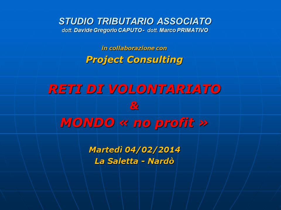 RETI DI VOLONTARIATO MONDO « no profit »
