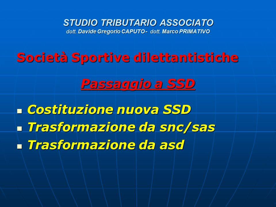 Società Sportive dilettantistiche Passaggio a SSD