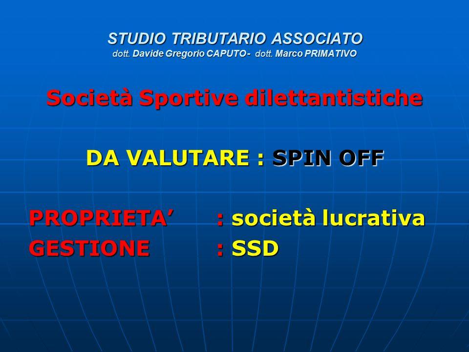 Società Sportive dilettantistiche