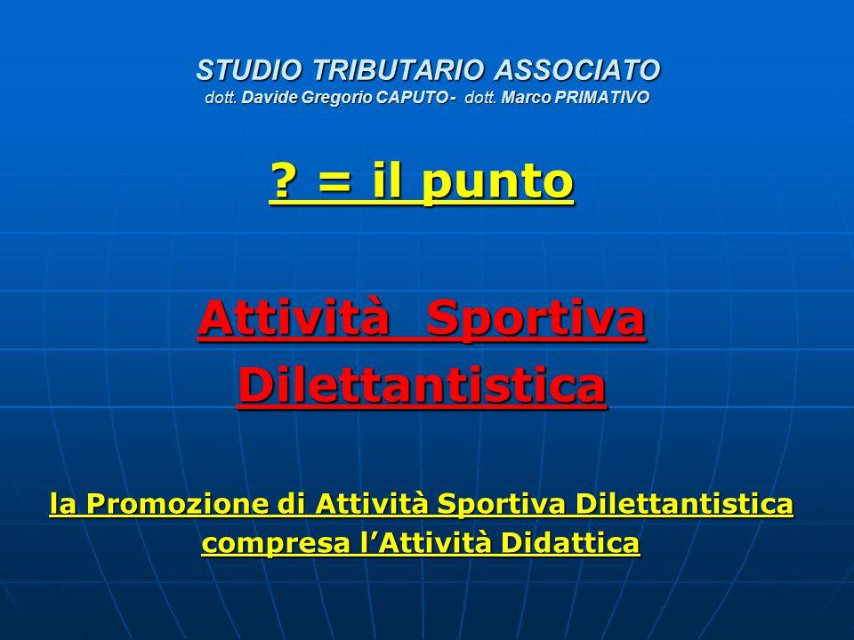 = il punto Attività Sportiva Dilettantistica