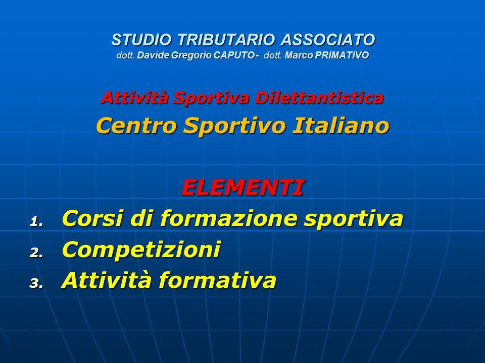 Attività Sportiva Dilettantistica Centro Sportivo Italiano
