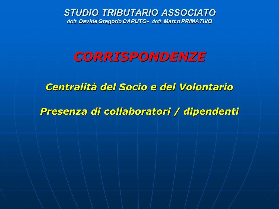 STUDIO TRIBUTARIO ASSOCIATO dott. Davide Gregorio CAPUTO - dott