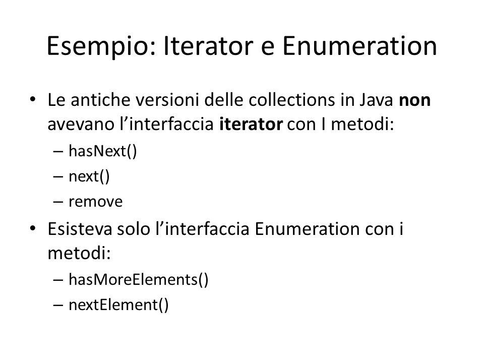 Esempio: Iterator e Enumeration