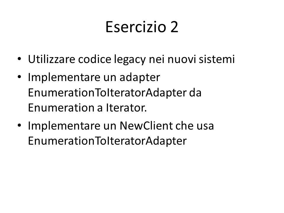 Esercizio 2 Utilizzare codice legacy nei nuovi sistemi