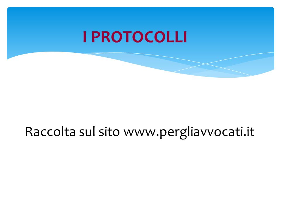 Raccolta sul sito www.pergliavvocati.it