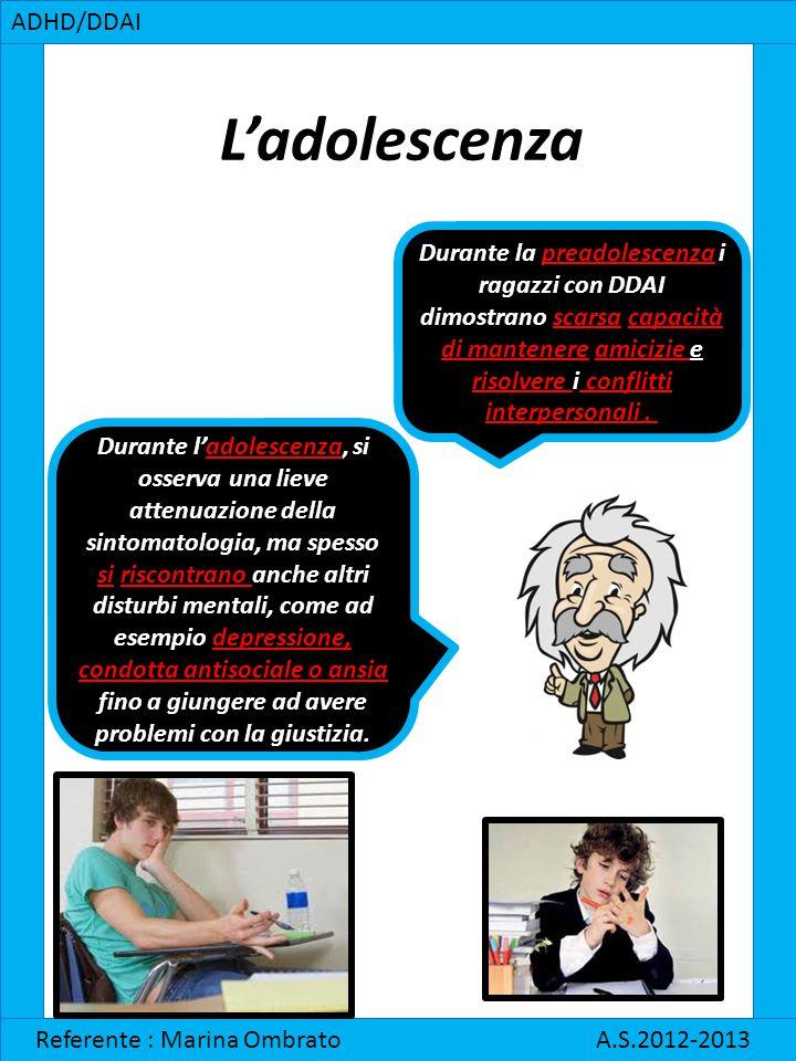 L'adolescenza ADHD/DDAI