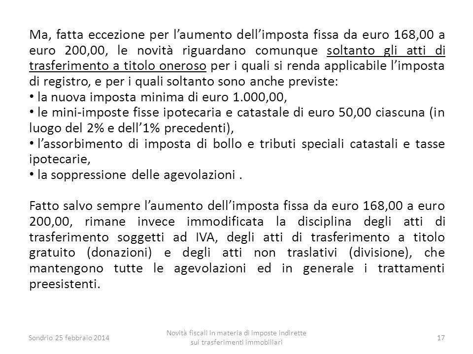 la nuova imposta minima di euro 1.000,00,