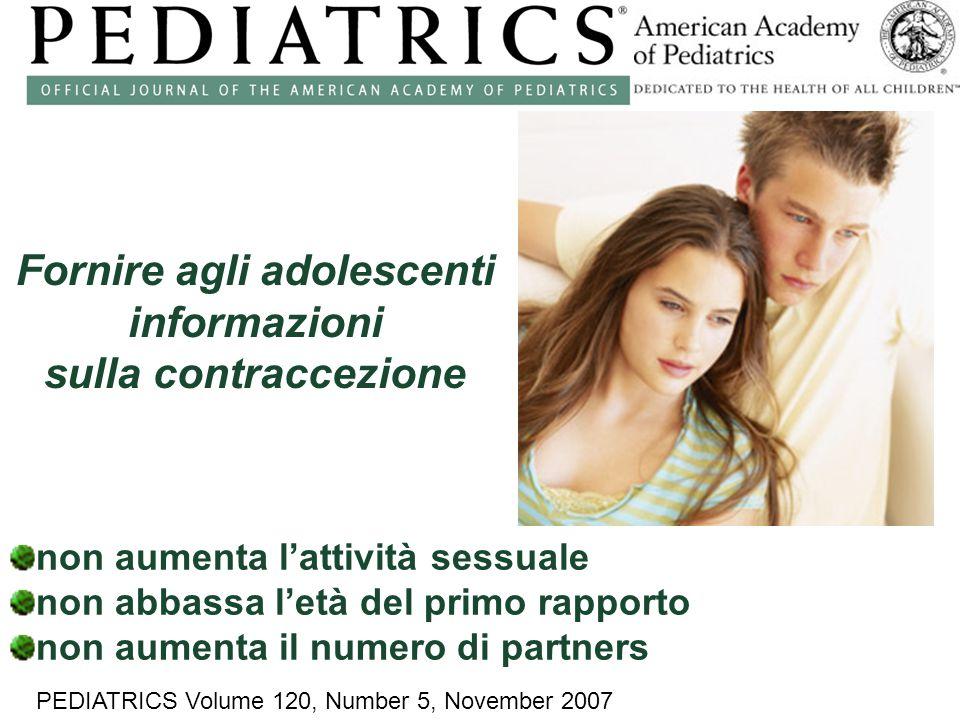 Fornire agli adolescenti informazioni