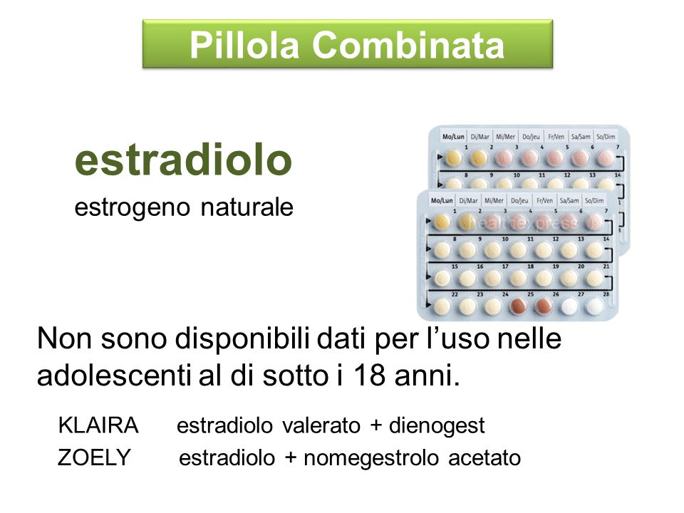 estradiolo Pillola Combinata