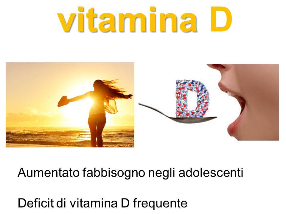 vitamina D Aumentato fabbisogno negli adolescenti