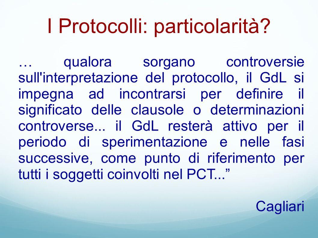 I Protocolli: particolarità
