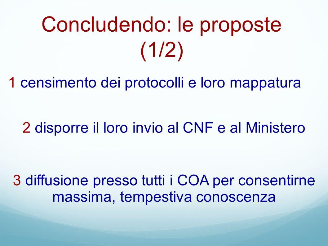 Concludendo: le proposte (1/2)