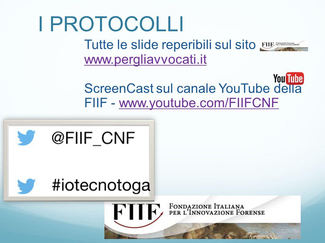I PROTOCOLLI Tutte le slide reperibili sul sito www.pergliavvocati.it