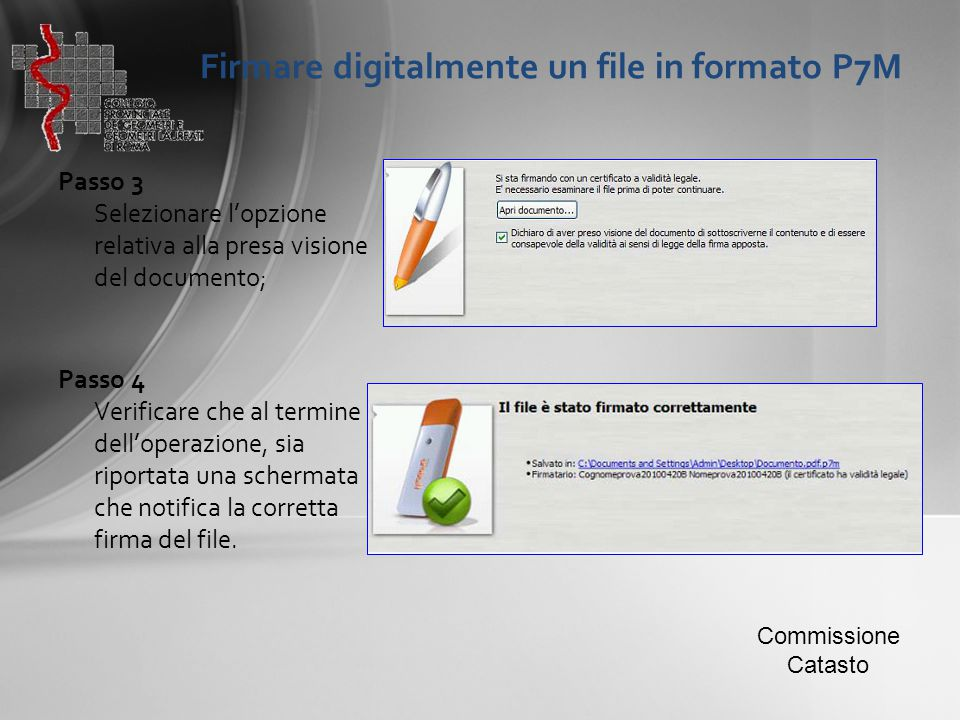 Firmare digitalmente un file in formato P7M