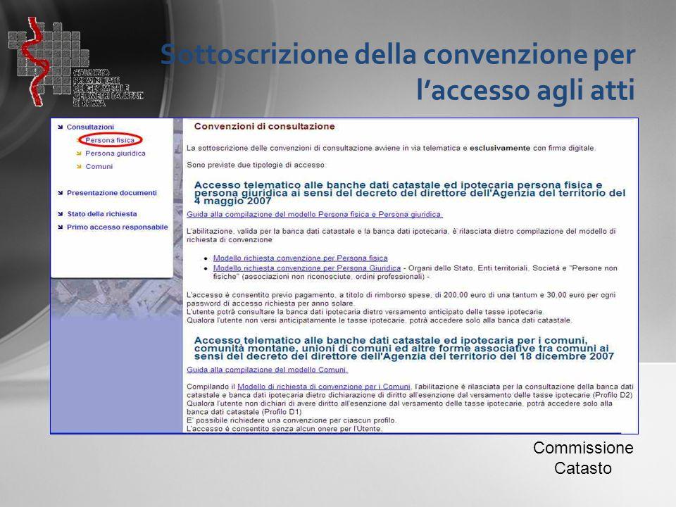 Sottoscrizione della convenzione per l'accesso agli atti
